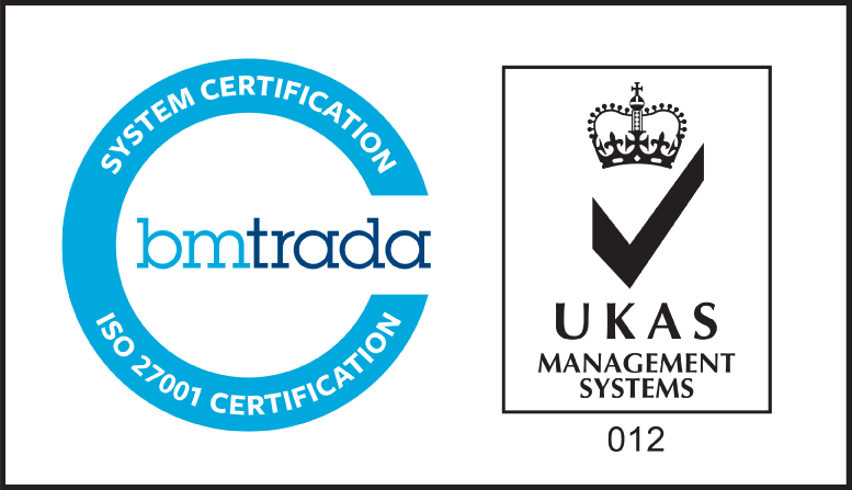 ISO 27001 Certification Mark w/UKAS